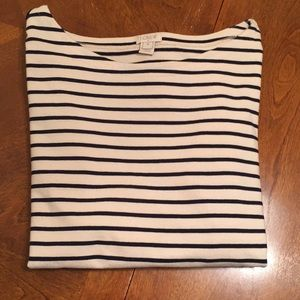 J. Crew Long-Sleeved Stripe Shirt